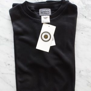 VERSACE - L never-worn black tee w/tags